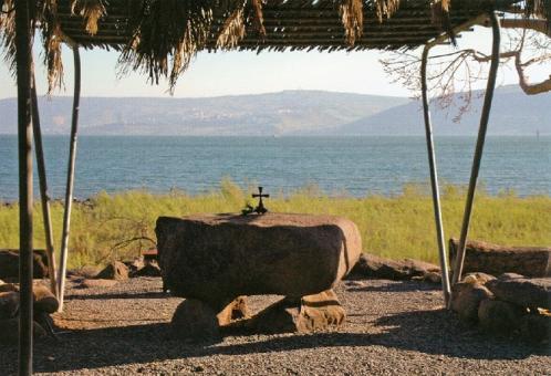 Am See Gennesaret bei Tabgha