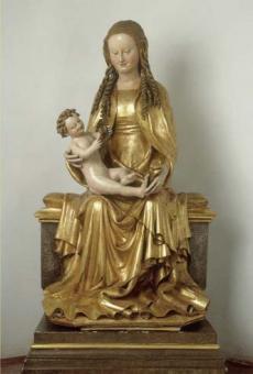 Maria mit spielendem Jesuskind