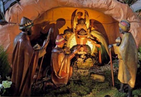 Heilsgeschichtliche Weihnachtskrippe in Mainz, St. Quintin