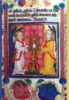 Engel halten das Sakrament des Altars