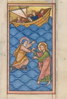 Jesus rettet den versinkenden Petrus