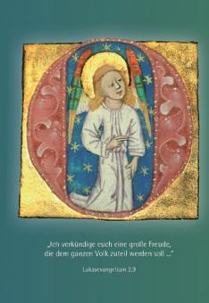 Engel-Initiale aus einen Stundenbuch
