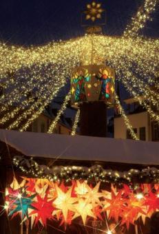 Sterne aller Art auf dem Mainzer Weihnachtsmarkt