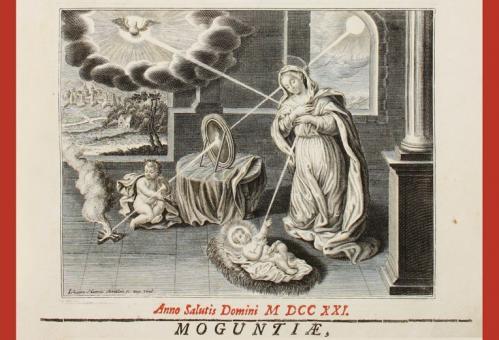 Titelblatt des ersten Bandes (Mainz 1721) der Editio Moguntina