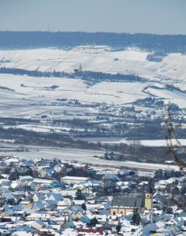 Verschneites Rheinhessen