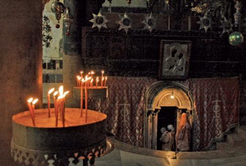 Bethlehem - Der Eingang zur Geburtsgrotte