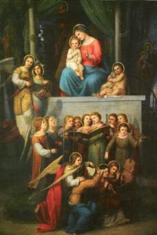 Konzert der Engel vor der heiligen Familie